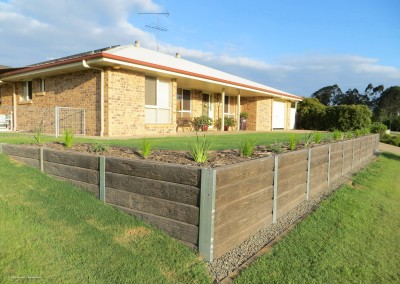 Ironbark Concrete Sleepers and Galvanised Steel Posts