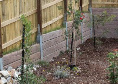 Mushroom Concrete Sleepers and Galvanised Steel Posts (Silkwood Estate 2)