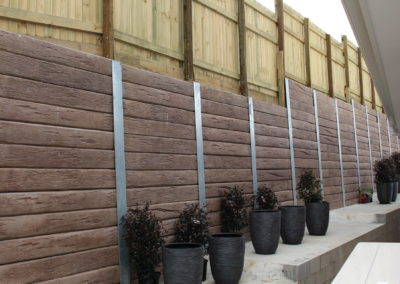 Mushroom Concrete Sleepers and Galvanised Steel Posts (Silkwood Estate 3)
