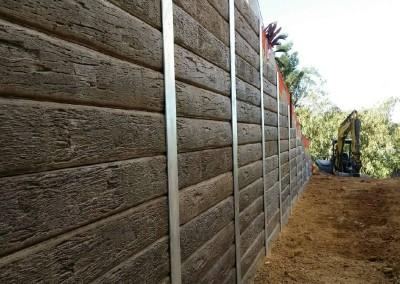 Ironbark Concrete Sleepers and Galvanised Steel Posts 1