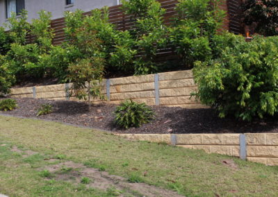 Sandstone Effect Concrete Sleepers and Galvanised Steel Posts (Esperance)