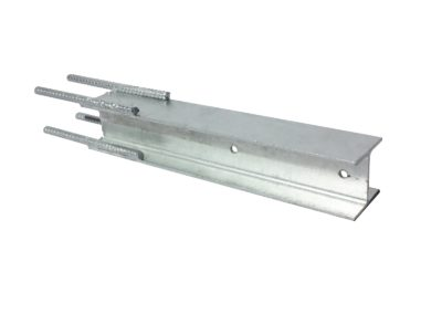100UC (H Post) Galvanised Steel Post with Deformed Bar Extension